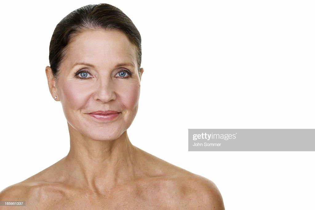 Hermosa mujer madura : Foto de stock
