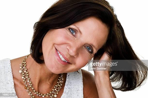beautiful mature woman - menselijk lichaamsdeel stockfoto's en -beelden