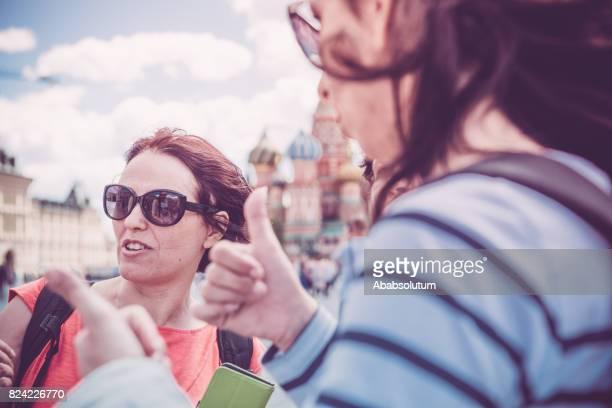 Beautiful Mature Women Enjoying Red Square in Moscow, Russia