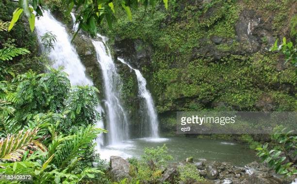 美しいマウイ、ハワイの滝