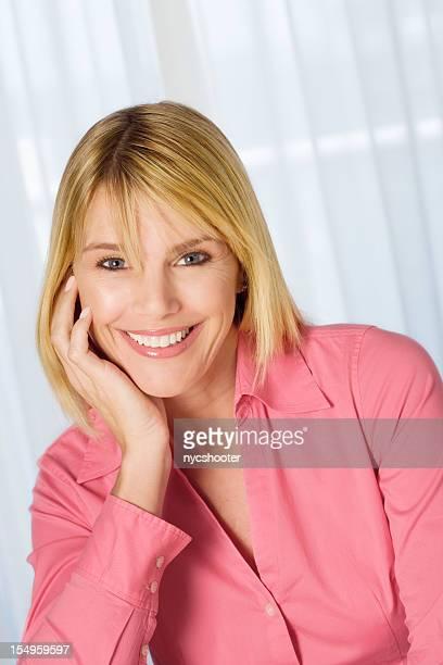 Beautiful mid adult woman portrait