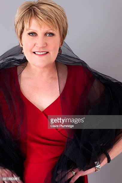 beautiful middle age woman having a photo shoot - ウェスト・バークシャー ストックフォトと画像
