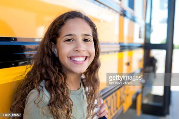 beautiful middle school girl - state school stock pictures, royalty-free photos & images