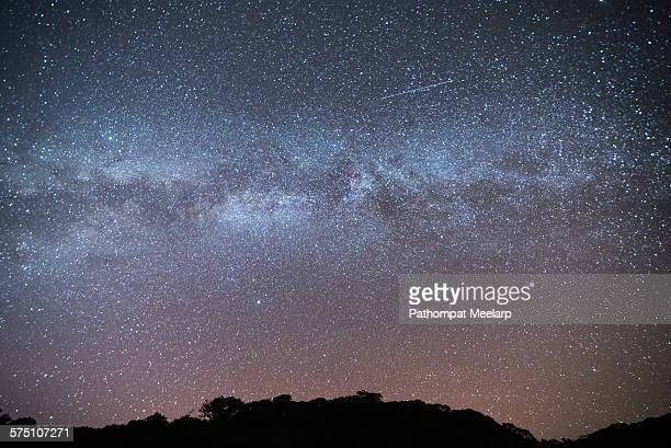 Beautiful milky way with shooting star
