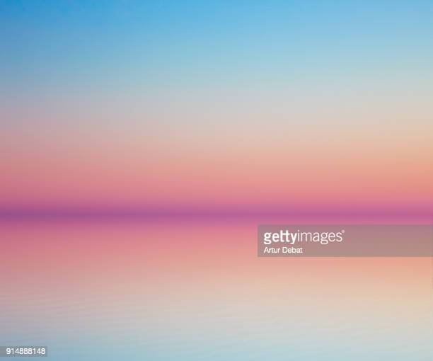 beautiful minimalist art landscape with symmetry. - lever du soleil photos et images de collection