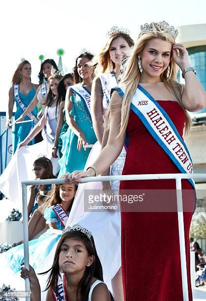 Beautiful Misses at a Parade
