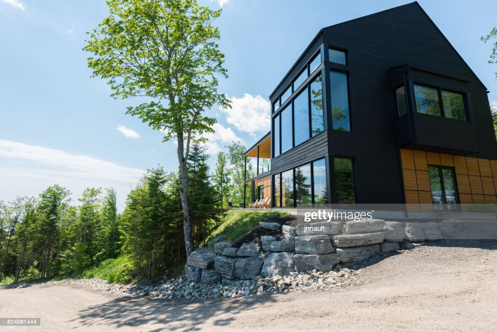 Wunderbar Schönes Modernes Haus Im Wald.