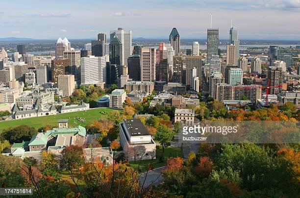 Belle automne paysage urbain de Montréal