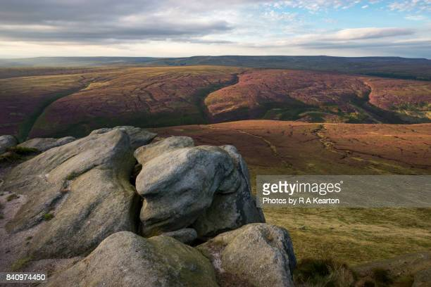 Beautiful moorland scenery in the North of England in summer