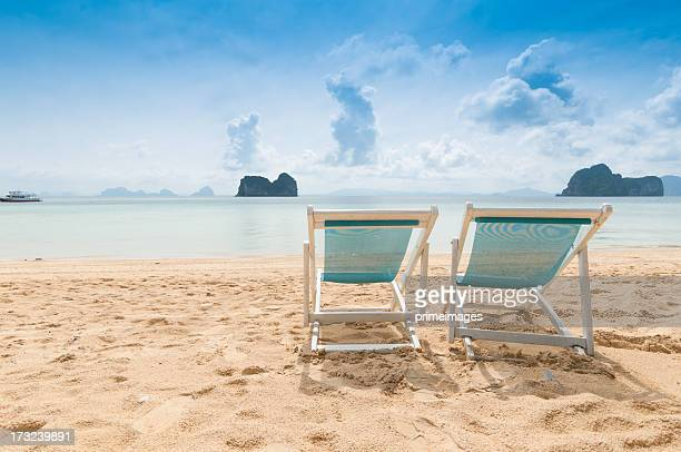 Beautiful morning at the tropical beach