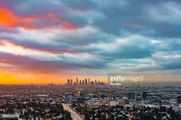 beautiful morning sky in los angeles - griffith park stock pictures, royalty-free photos & images