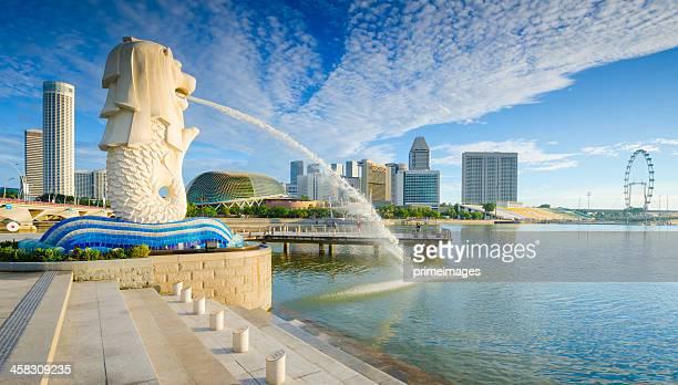 Superbe Morning Sunshine de Merlion de Singapour
