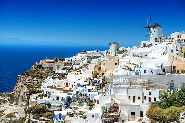 Beautiful Morning view of Oia, Santorini, Greece