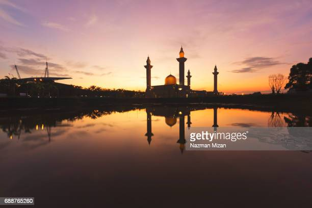 Beautiful mosque captured in the morning during sunrise.