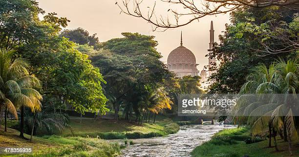 beautiful  mosque in asia - shah alam stock photos and pictures