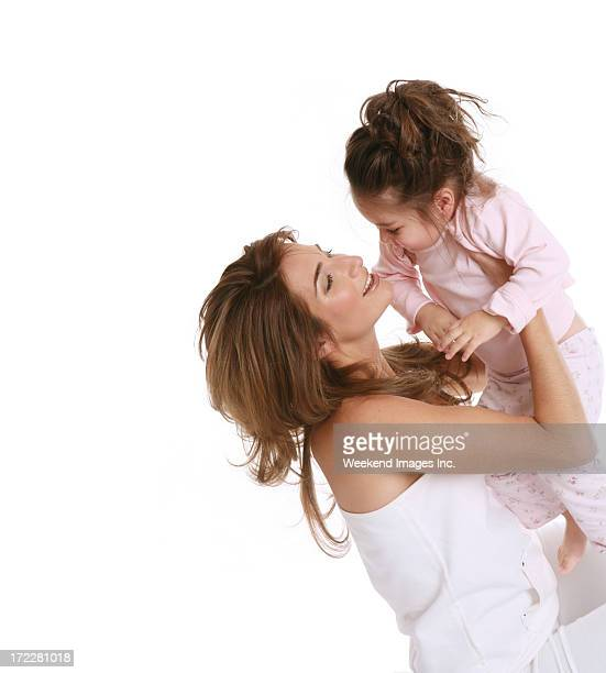beautiful mother and adorable girl