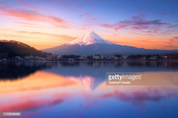 beautiful mount fuji - mt. fuji stock pictures, royalty-free photos & images