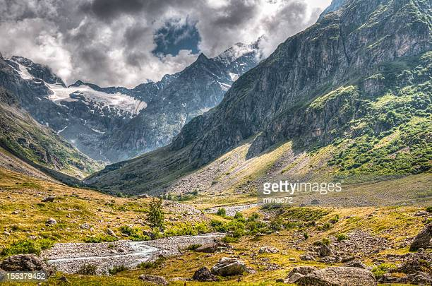 beautiful mountain landscape hdr - isere stock pictures, royalty-free photos & images
