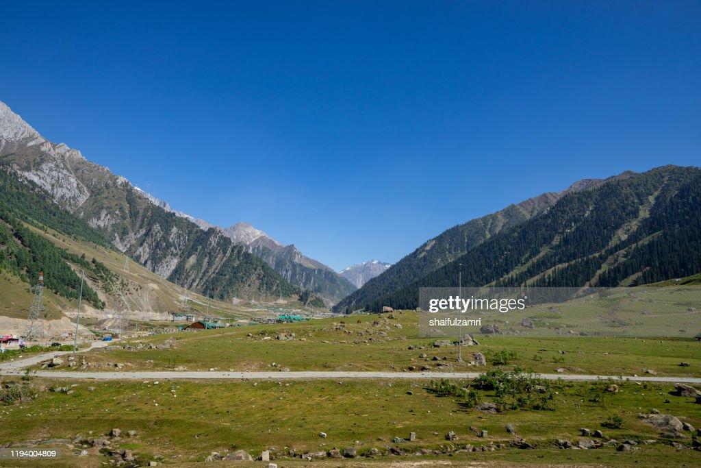 Beautiful mountain landscape of Sonamarg, Jammu and Kashmir state, India. : Stock Photo