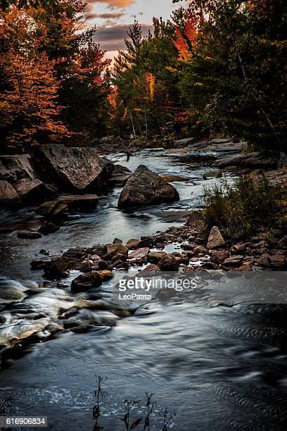 Beautiful mountain river in Ontario - Canada