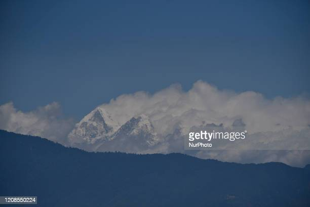 Beautiful mountains along with Clear skies seen from Kathmandu during the sixth day nationwide lockdown as concerns about the spread of Corona Virus...