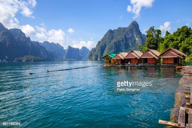 beautiful mountains lake river sky and natural attractions in ratchaprapha dam at khao sok national park - surat thani province stock pictures, royalty-free photos & images