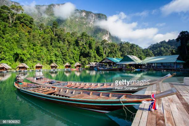 beautiful mountains lake river sky and natural attractions in ratchaprapha dam at khao sok national park - kao sok national park stock pictures, royalty-free photos & images