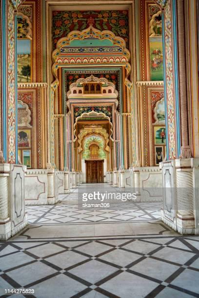 beautiful mughal architecture patrika gate near city jaipur rajasthan india - jodhpur stock pictures, royalty-free photos & images