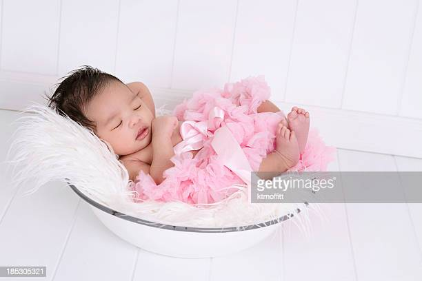 Beautiful Multi Ethnic Newborn Wearing Tutu