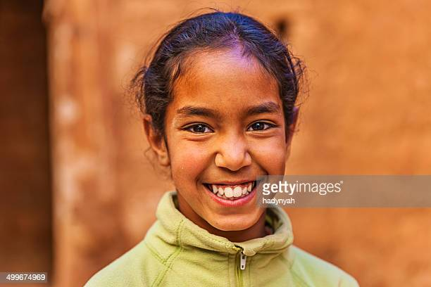 beautiful muslim girl in moroccan kasbah - moroccan girls stock photos and pictures