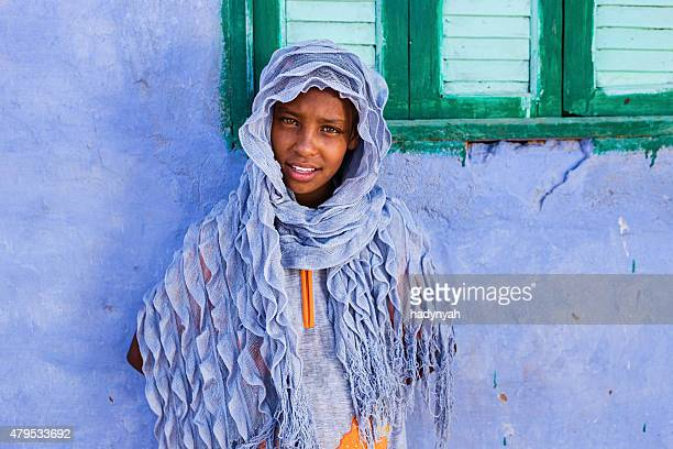 Beautiful Muslim girl in Southern Egypt