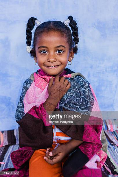 Beautiful Muslim little girl in Southern Egypt