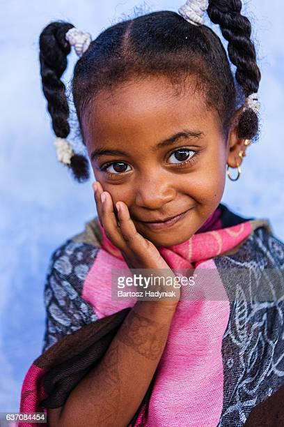 Beautiful Muslim little girl in Southern Egypt