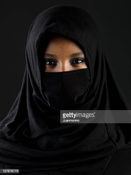 beautiful muslim teenage girl - beautiful black teen girl stock photos and pictures