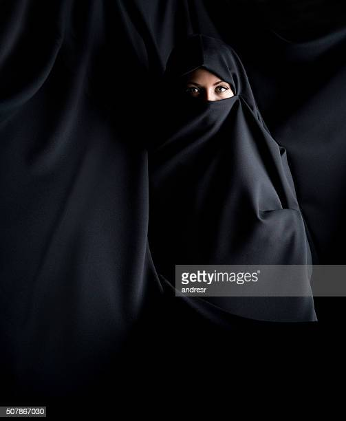 Beautiful Muslim woman wearing a burka