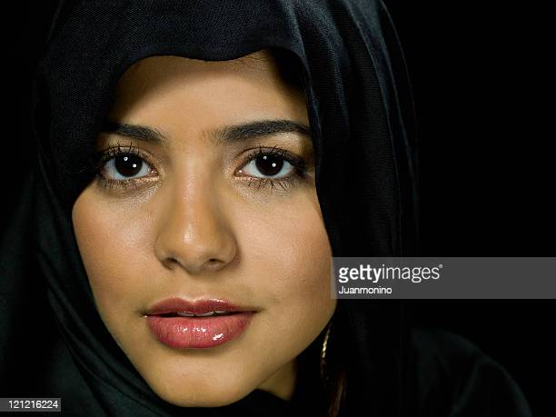 beautiful muslim young woman - iranian woman stock photos and pictures