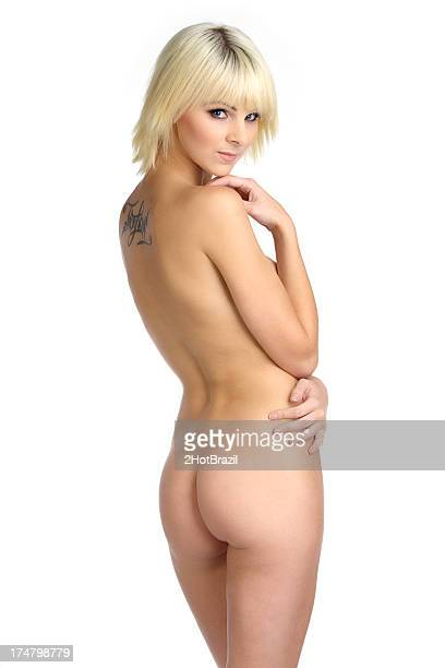 beautiful naked female body. rear view - beautiful bare bottoms stock pictures, royalty-free photos & images