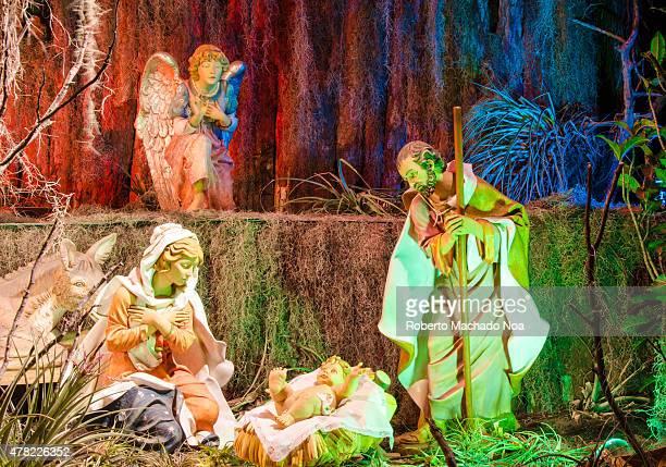 Beautiful nativity scene illustrate the birth of Jesus Christ