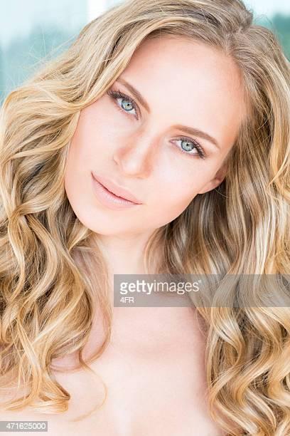 Beautiful Natural Woman, Intense Portrait