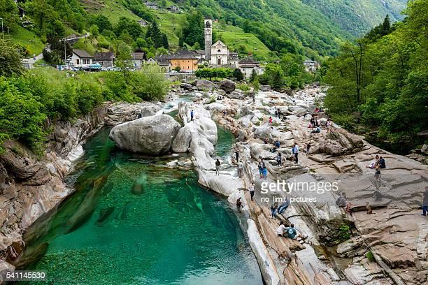 Wunderschöne Natur und Kirche in Verzascatal in der Schweiz