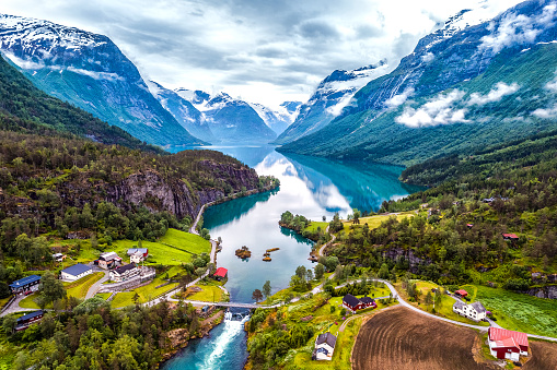 Beautiful Nature Norway aerial photography. 840781672