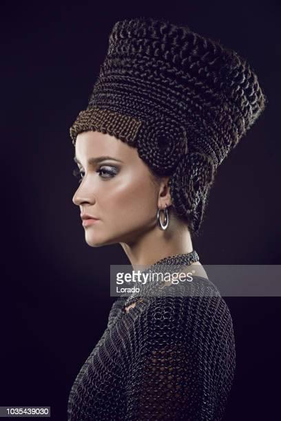 beautiful nefertiti woman - nefertiti stock pictures, royalty-free photos & images