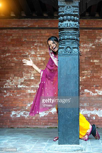 beautiful nepali woman - nepalese ethnicity stock pictures, royalty-free photos & images