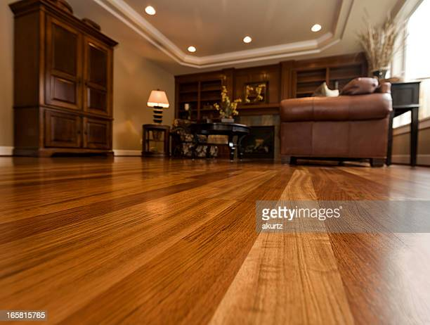 beautiful new hardwood floors home interior copy space - wooden floor stock pictures, royalty-free photos & images