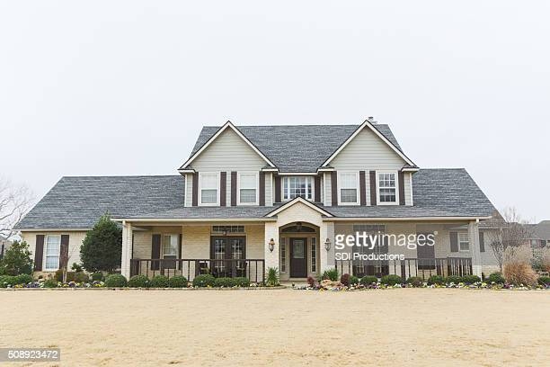beautiful new home in suburbs - southern usa stock pictures, royalty-free photos & images