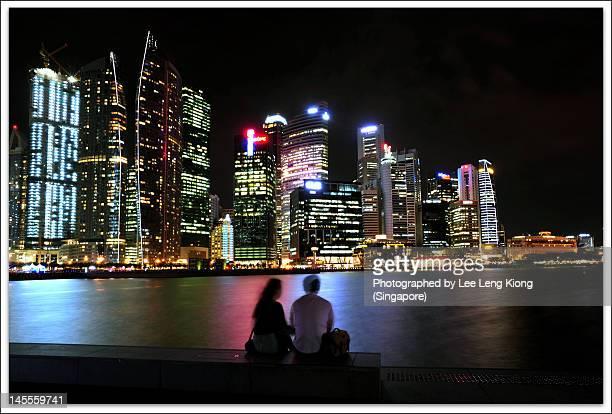 Beautiful night at Marina Bay, Singapore