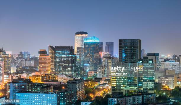 beautiful night scene of beijing skyline