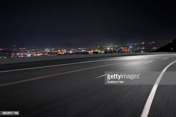 beautiful night scene of city skyline,Auto advertising background