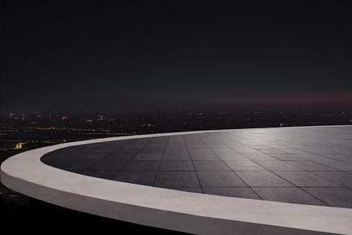 beautiful night scene of city skyline,Auto advertising background - gettyimageskorea