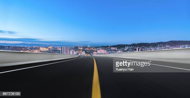 beautiful night scene of city skyline,Auto advertising background